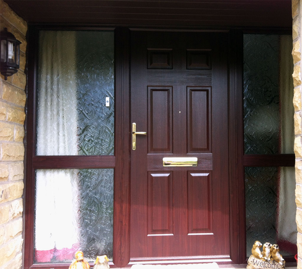 Mr & Mrs Wells Rosewood UPVC Door