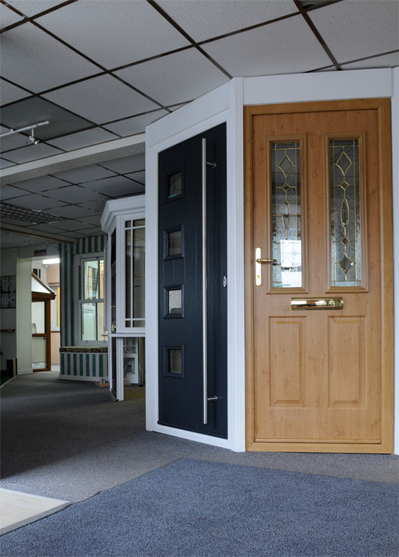 Solidor Composite Doors in the Gardinia Showroom