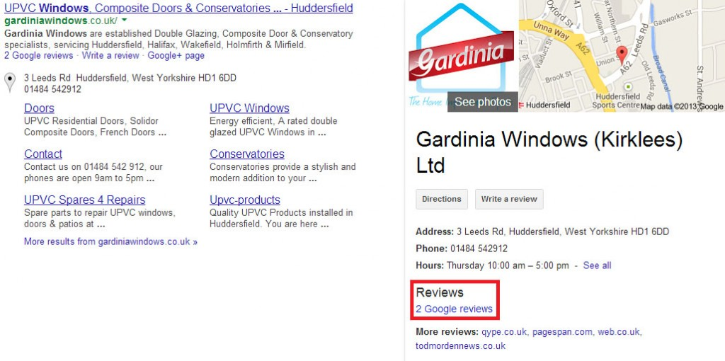 Gardinia Windows Reviews on Google