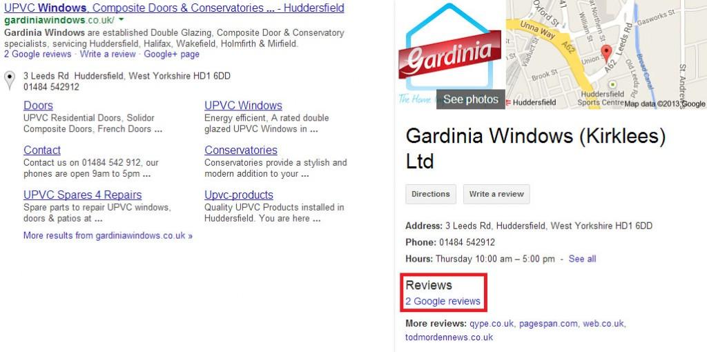 Gardinia Windows Reviews on Google