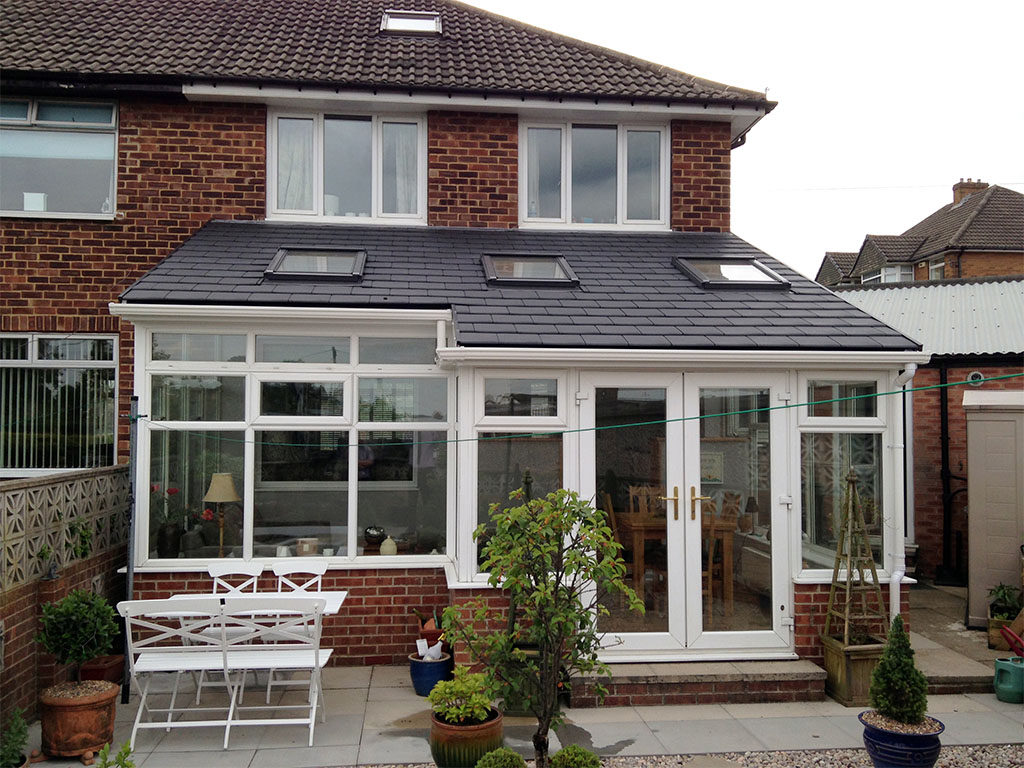 Solid conservatory roof installation in brighouse for Adding a conservatory