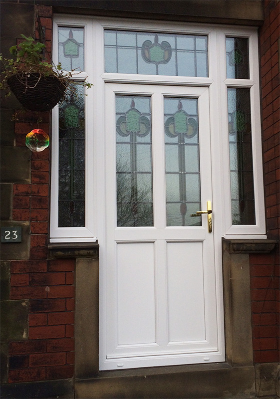 Encapsulated Stained UPVC Windows and Doors in Huddersfield