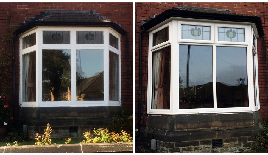 Encapsulated UPVC Bay Window Huddersfield Before & After
