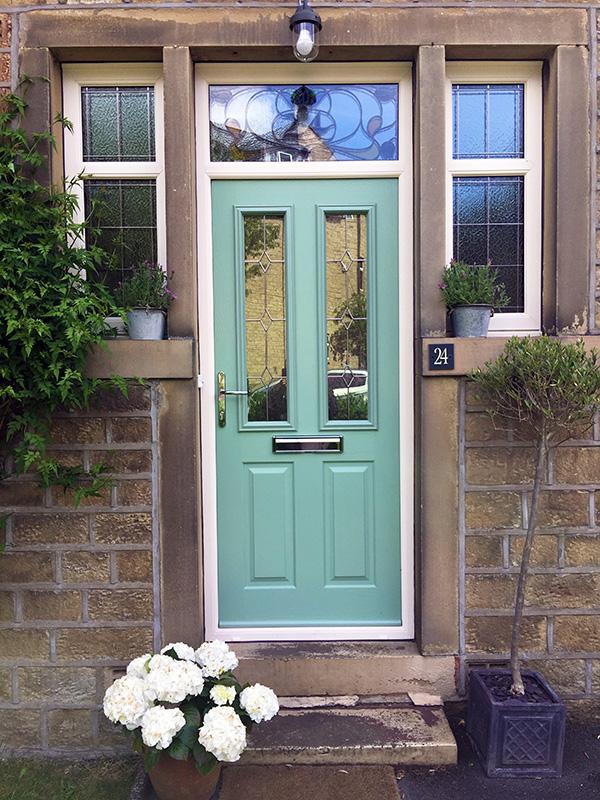 Composite Door Upgrade With Encapsulated Fanlight Window