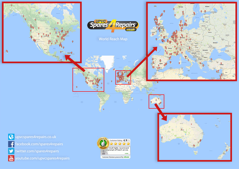 Spares 4 Repairs World Reach Map