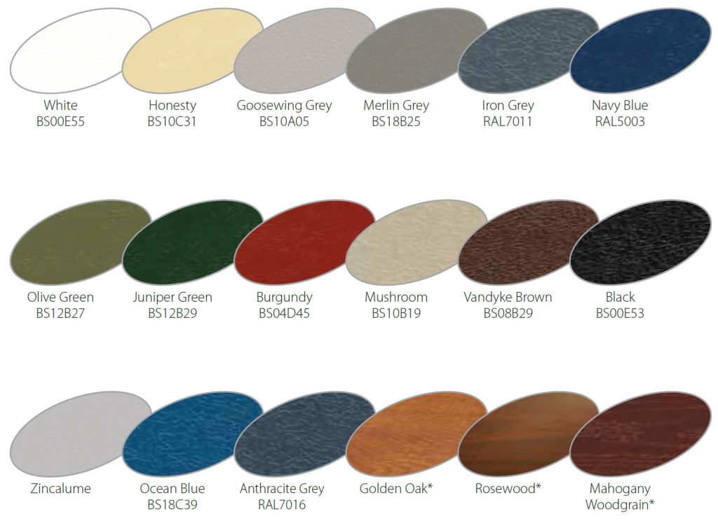 Roller Garage Door Colours